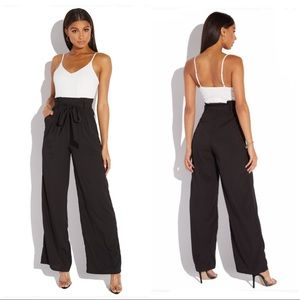 Tank Style Color-Block Jumpsuit Size Medium, NWT